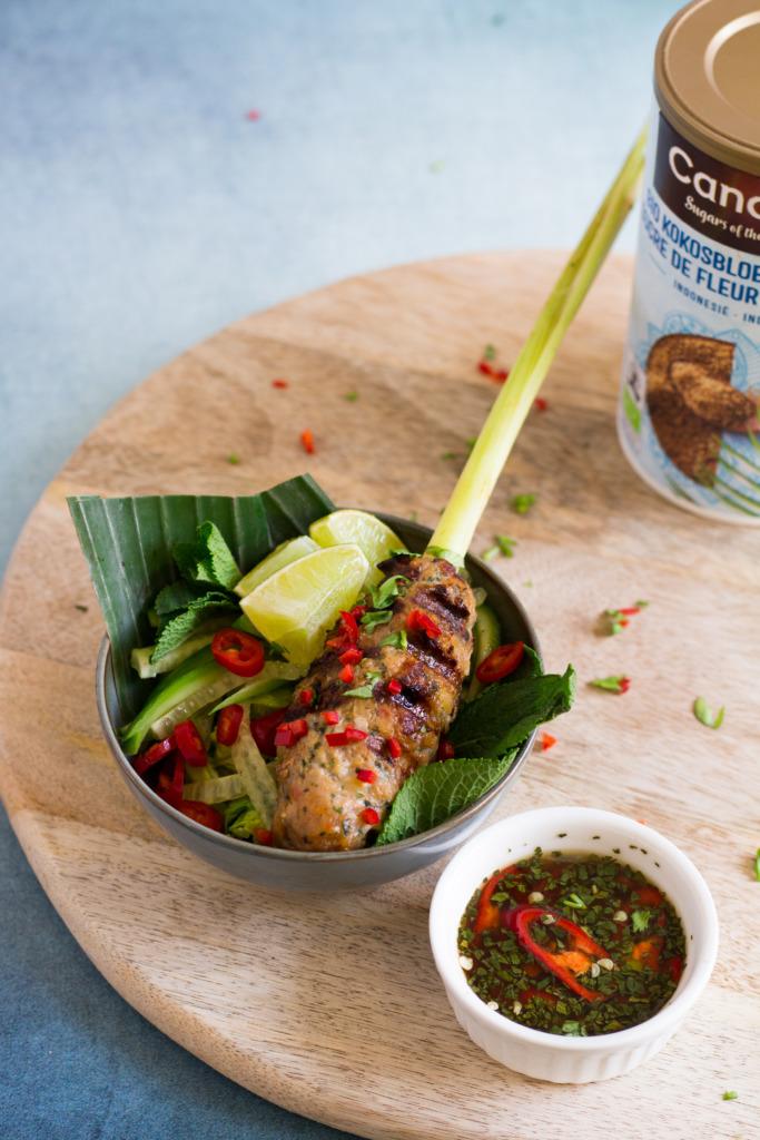 Vietnamese saté's van kip en scampi voor Candico Sugars of the World / www.eenlepeltjelekkers.be