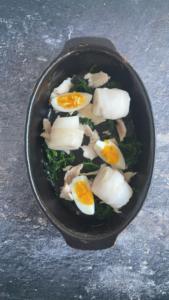Vis in de ovenschaal leggen / www.eenlepeltjelekkers.be