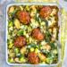 Eenpansgerecht met prei en mini gehaktbrood / www.eenlepeltjelekkers.be