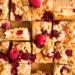 Kaastaart met frambozen, nectarine en streusel / www.eenlepeltjelekkers.be